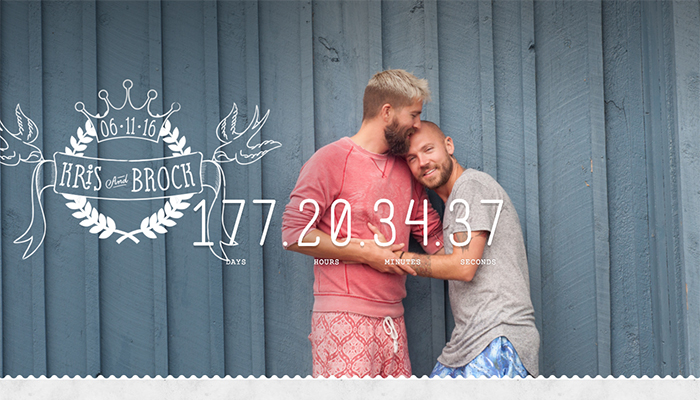 Kris and Brock Wedding Website